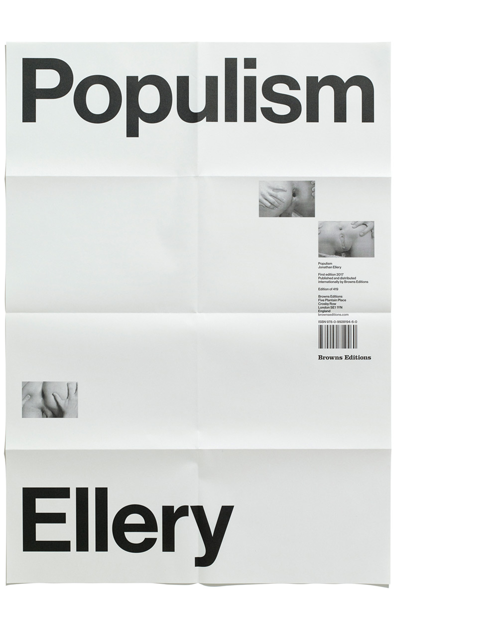 Populism Poster, Jonathan Ellery, Browns Editions and Browns Design, 2017